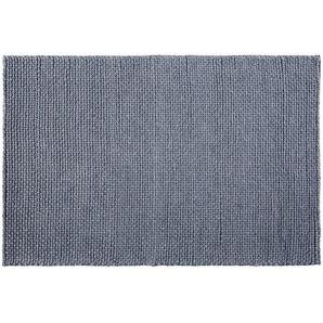 Tapis en laine tressée gris anthracite 140x200