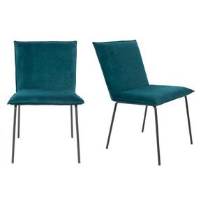 2 chaises vintages en velours Floke