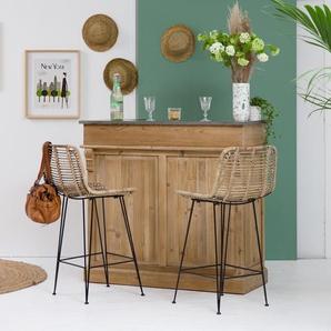 Bar bois vintage AuthentiQ 120cm