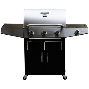 Barbecue gaz Party 4 - 4 Brûleurs dont 1 latéral - 13.7kW - HABITAT ET JARDIN