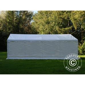 Tente de stockage Tente Abri Basic 2-en-1, 4x8m PE, blanc - DANCOVER