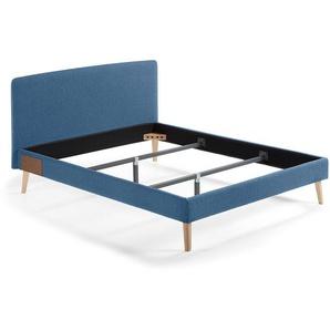 Kave Home - Lit Dyla 150x190 cm bleu foncé