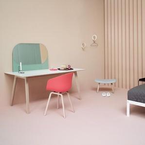 HAY About A Chair Low AAC 43 - Hallingdal 130 - gris moucheté - décapé noir