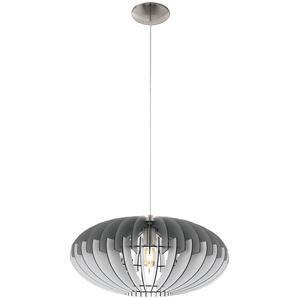 Suspension LED RGB, lattes de bois, gris blanc, SOTOS 1 - ETC-SHOP