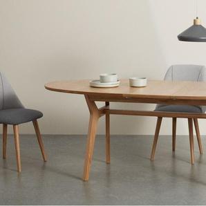 Jenson, table ovale à rallonge, chêne