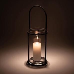 Lanterne en métal gris anthracite H50xD18cm