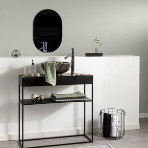 Tapis de Bain Bono Blanc & Noir 60x100 cm - Tapis pour salle de bain