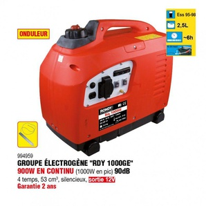 Groupe électrogène 900W type Rdy 1000GE - RONDY