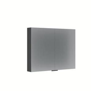 Bruynzeel Armoire de toilette 70x70x14cm avec deux portes aluminium 232403