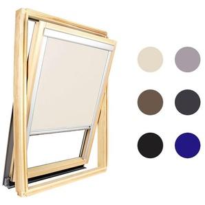 Store occultant Beige compatible Velux ® 306 - Ossature grise - AVOSDIM