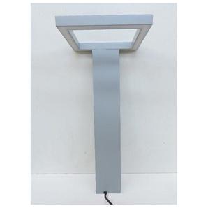 Borne extérieure LED 18W architecturale alu gris H580mm design moderne 3000K 1280lm 230V IP54 TRIM SQUARE 240 SIMES S.3156W.14