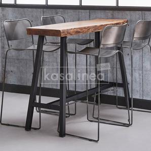 Table haute en bois massif LIVERPOOL