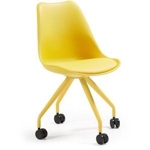 Kave Home - Chaise bureau Ralf jaune