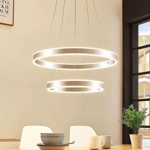 Suspension LED Lyani, 2 anneaux superposés
