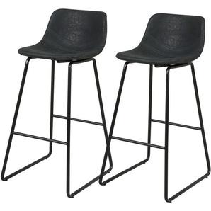 Chaise de bar noire Clay 76 cm (lot de 2) - RENDEZ VOUS DéCO