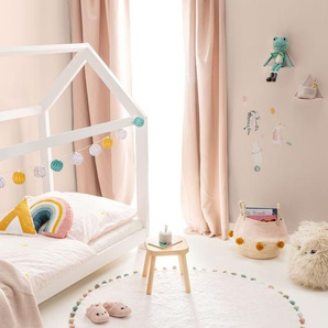 Lytte Tapis lavables pour enfants Tilda Crème ø 120 cm rond - Tapis pour chambre denfants/bébé