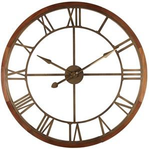 Horloge en métal coloris bronze D90