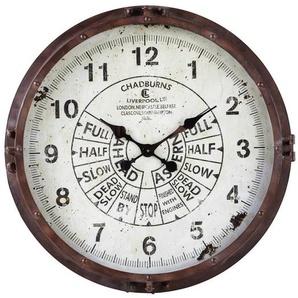 Horloge en métal effet rouille D72