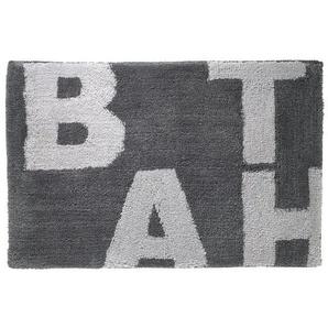 Sealskin Littera Tapis de bain 90x60cm polyester anthracite 294013613
