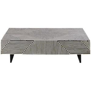 Table basse motifs graphiques blancs et noirs Kalei