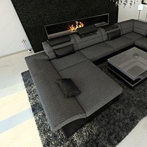 cuir / Tissu intérieur de la maison ENZO forme U Gris