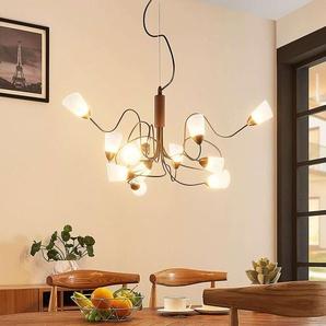 Suspension LED Hannes ronde à 12 lampes