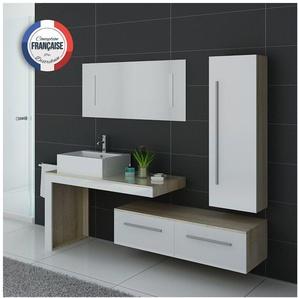 Meuble de salle de bain DIS9250 Scandinave et blanc - DISTRIBAIN