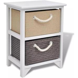 Table de nuit chevet commode armoire meuble chambre bois - Bois - HELLOSHOP26