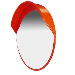 PrimeMatik - Sécurité miroir convexe surveillance extérieur 80cm avec fixation murale