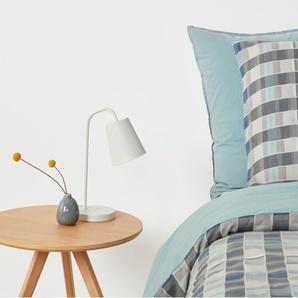 Kumo linge de lit 100% coton, double (200 x 200), tons de bleu et de gris