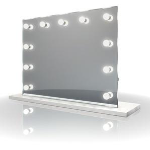 Diamond X Miroir table de maquillage Hollywood Avec ampoules LED k95sCW - Couleur LED : Ampoules LED lumière du jour - DIAMOND X COLLECTION