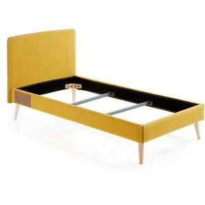Lit Dyla 90x190 cm moutarde