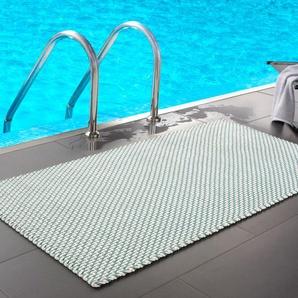 pad home design Paillasson cordelettes, 72 x 52 cm - Turquoise/Blanc, polypropylène