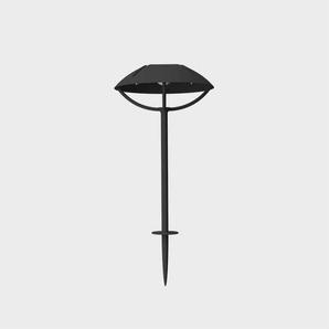 PARABOLE-Borne dextérieur LED solaire à planter Aluminium H32 ou 50cm Noir Charbon Maiori