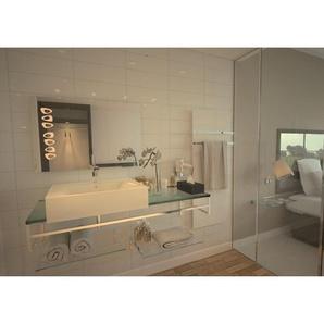 Miroir de salle de bains avec éclairage LED - Design Knoll - 60 cm x 90 cm (HxL) - PRADEL