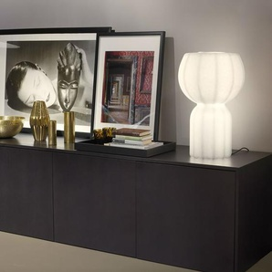 PUPA-Lampe à poser LED Polyéthylène effet papier japonais H58cm Blanc Slide - designé par Lorenza Bozzoli