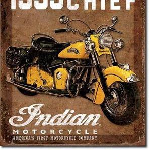 Desperate Enterprises Indian Motorcycles 1953Road Master Plaque de Plat Neuf 31x 40cm s3379