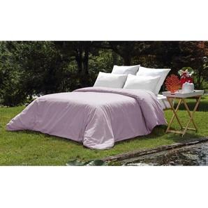 VENT DU SUD Housse de couette PALACE en coton lavé - 220x240 cm - Violet mauve