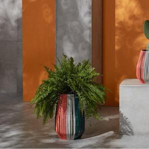 Ariba, lot de 2 piédestaux pour plantes, résine tressée multicolore