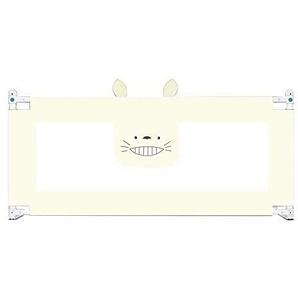 MY1MEY Rails de lit - Barrière de lit de sécurité Pliable Simple avec Filet ventilé pour Tout-Petits - Garde-lit Queen Size pour Enfants - Safe Sleep (Beige, 200cm)