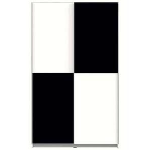 Armoire 2 portes WINNER 2 coloris noir/blanc