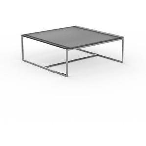 Table basse - verre fumé dépoli, design, bout de canapé sophistiqué - 81 x 31 x 81 cm, personnalisable