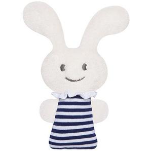 Mini hochet Funny Bunny 16 cm rayures marines