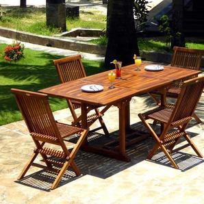 salon en teck huilé pour lextérieur Lombok 4 à 8 places