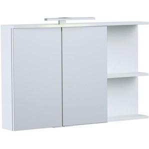 ONDE Armoire de toilette L 90cm - Blanc brillant