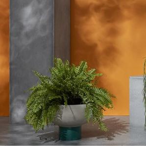Terango, jardinière longue en fibre de terre ciment, gris
