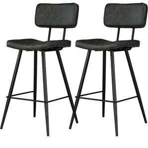 Chaise de bar mi-hauteur Texas noire 65 cm (lot de 2) - RENDEZ VOUS DéCO