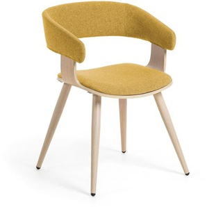 Kave Home - Chaise Heiman moutarde