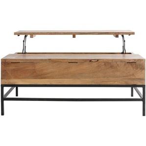 Table basse relevable industrielle manguier et métal L110 cm YPSTER