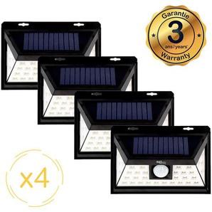 Lampe solaire LED murale EZIlight® Solar one - Pack de 4 lampes - E.ZILIGHT